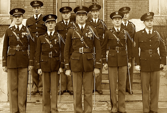St. Thomas Academy cadet staff in 1930. Its military identity continues to be at the heart of the 130-year-old school. Courtesy St. Thomas Academy