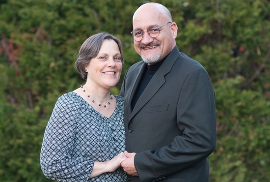 Norma and Father Vaughn Treco. Photo courtesy Lisa Julia Photography.