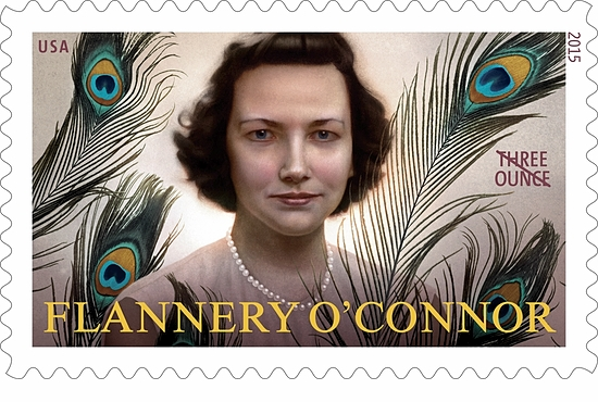 The U.S. Postal Service will issue a three-ounce stamp in honor of Flannery O'Connor June 5. Courtesy the U.S. Postal Service