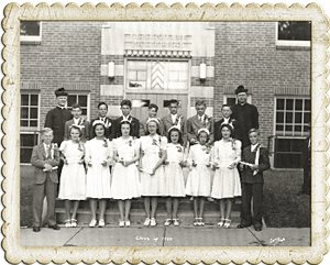1940: First graduating class of Immaculate Conception School, Columbia Heights Courtesy Immaculate Conception School