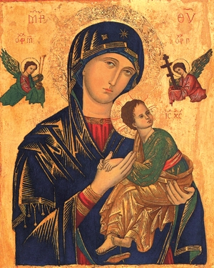 The symbolism of the icon of Our Mother of Perpetual Help will be explained at St. Alphonsus in Brooklyn Center June 23-26. Courtesy the Redemptorists
