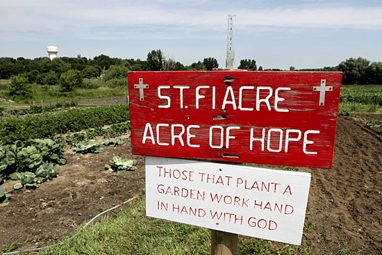 A garden sign at St. Michael in St. Michael. Dave Hrbacek/The Catholic Spirit