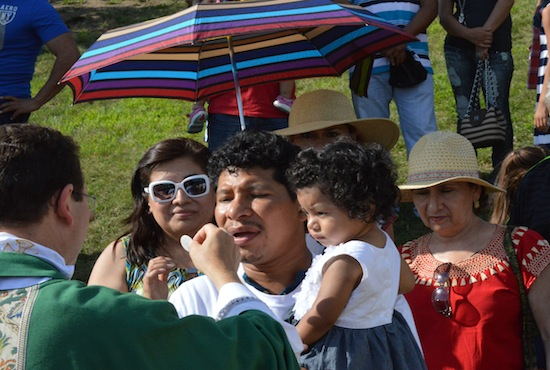 Latino faith and culture — including an outdoor Mass — was celebrated Aug. 1 at the Archdiocese of St. Paul and Minneapolis-sponsored Dia de La Familia at St. Thomas Academy in Mendota Heights.