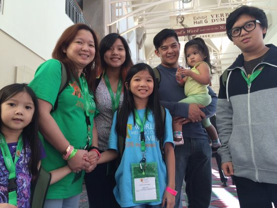 Harlene and Romnick Tejedor from Manila, Philippines, are attending the World Meeting of Families in Philadelphia with their five children, ages 2-18: Leila, Nirel, Bohdana, Zeke and Abijah. Maria Wiering/The Catholic Spirit