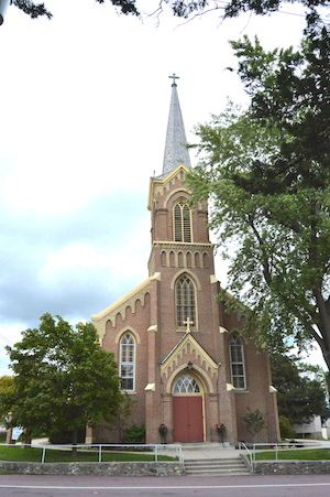 St. John the Evangelist Church in Union Hill, completed in 1883.