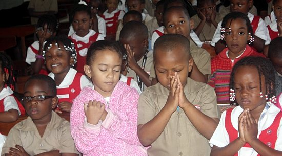 Children learn about the sacraments, liturgy, prayer and Christian living.