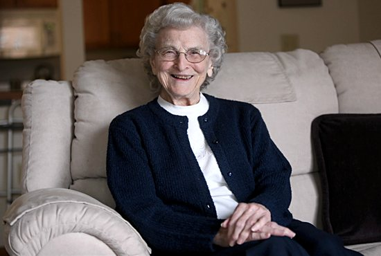 "Sister Mary Madonna Ashton, 92, a Sister of St. Joseph of Carondelet, is one of 16 to receive the 2016 National Women's History Month award ""Working to Form a More Perfect Union: Honoring Women in Public Service and Government."" Dave Hrbacek/The Catholic Spirit"
