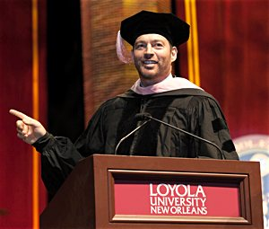 Harry Connick Jr. gives the commencement address at Loyola University New Orleans May 20. Connick both regaled crowds and drew upon his multifaceted career and his Catholic upbringing as he shared advice for a meaningful and successful life beyond graduation. CNS