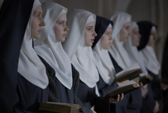 "This is a scene from the movie ""The Innocents."" The film is about a group of Benedictine nuns in Warsaw, Poland, after World War II and a French doctor who comes to their aid. CNS photo/Music Box Films"