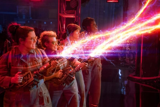 """Melissa McCarthy, Kate McKinnon, Kristen Wiig and Leslie Jones star in a scene from the movie """"Ghostbusters."""" The Catholic News Service classification is A-III -- adults. The Motion Picture Association of America rating is PG-13 – parents strongly cautioned. Some material may be inappropriate for children under 13. CNS photo/Sony"""