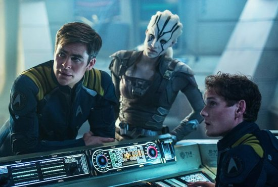 "Chris Pine, Sofia Boutella and Anton Yelchin star in a scene from the movie ""Star Trek Beyond."" The Catholic News Service classification is L -- limited adult audience, films whose problematic content many adults would find troubling. The Motion Picture Association of America rating is PG-13 -- parents strongly cautioned. Some material may be inappropriate for children under 13. CNS photo/Paramount"