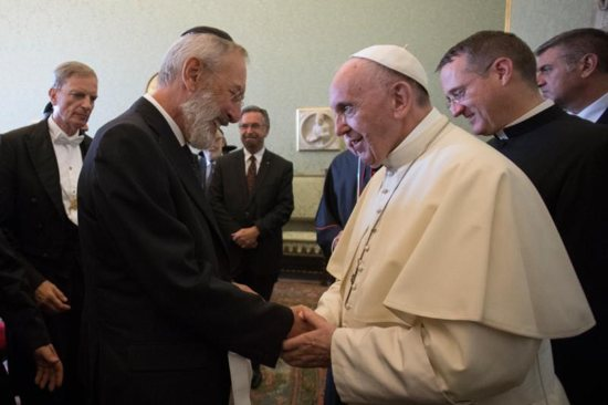 pope francis praised the increasingly friendly and fruitful relations between the catholic church and jewish leaders as he also wished the worlds jewish