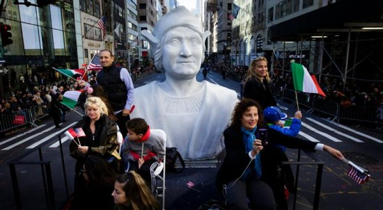 Christopher Columbus Statue Covered On LA's First Indigenous Peoples Day