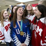 Gold medalist Pannek welcomed back at Benilde-St. Margaret's
