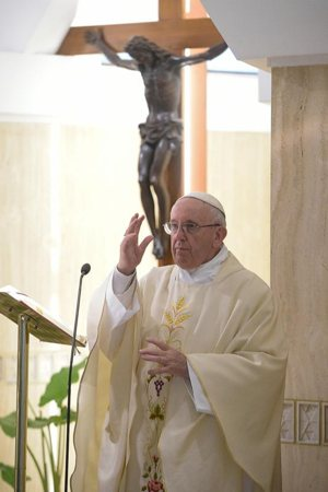 Pope Francis blesses the faithful and cautioned people to stay away from the devil