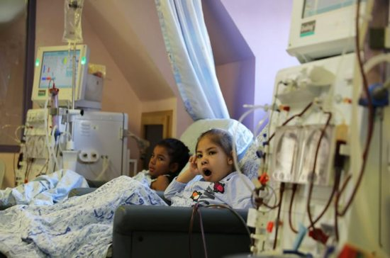 "Palestinian children receiving treatment are seen in early September at Augusta Victoria Hospital in East Jerusalem. U.S. Christian leaders expressed ""grave concern"" about the Trump administration's decision to stop financial assistance to six East Jerusalem hospitals."