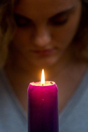 Prayer, Advent Candle