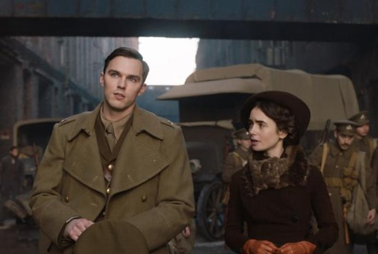 "Nicholas Hoult and Lily Collins star in a scene from the movie ""Tolkien."" The Catholic News Service classification is A-II -- adults and adolescents. The Motion Picture Association of America rating is PG-13 -- parents strongly cautioned. Some material may be inappropriate for children under 13."