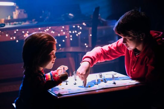 "Chucky and Gabriel Bateman appear ijn the movie ""Child's Play."""