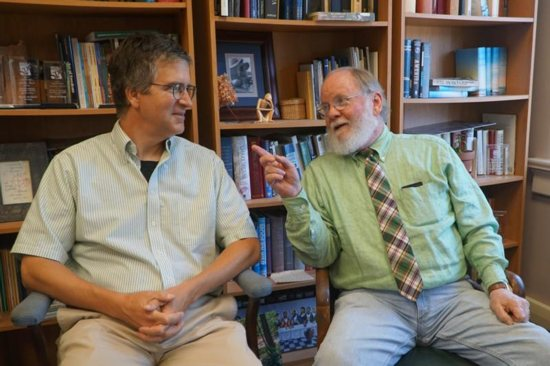 Astronomy professor Chris Graney and journalist Glenn Rutherford