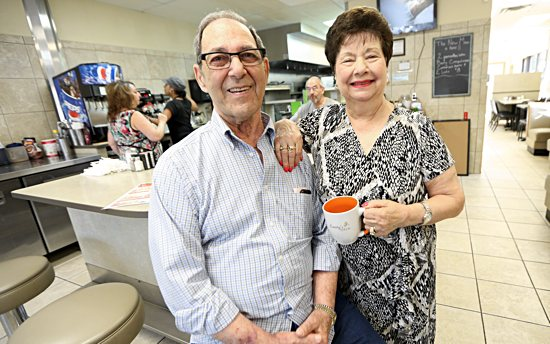 Elliot and Emily Benincasa inside the restaurant they owned for 37 years.