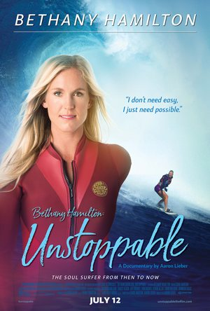 Poster for the documentary, Bethany Hamilton-Unstoppable