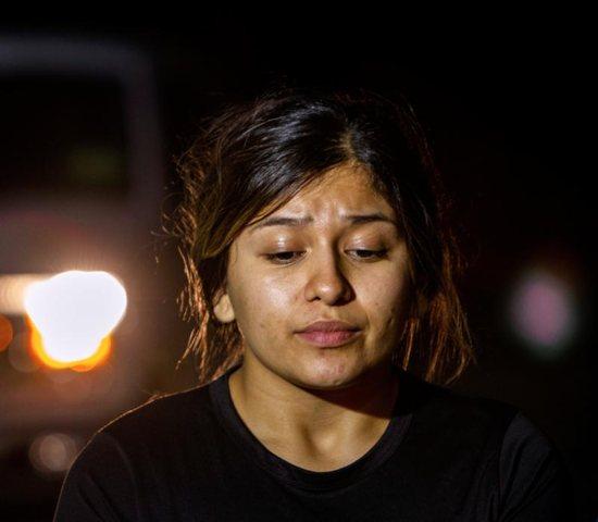 Witness Litzy Munguia, a vendor who said she saw the shooter