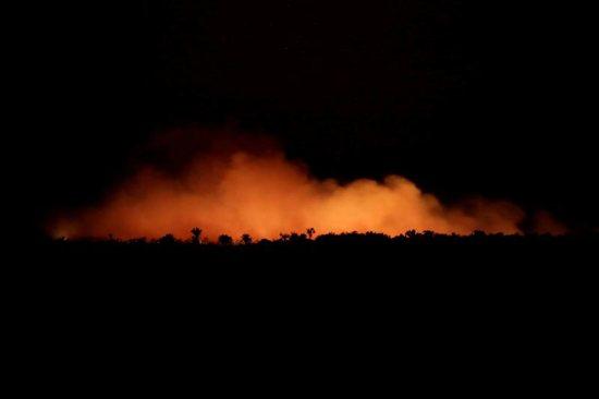 Smoke near Humaita, Brazil, billows during a fire in the Amazon rainforest