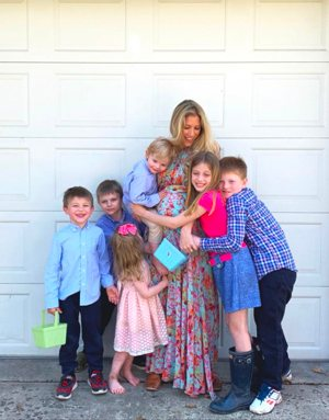Kristin Reilly is seen with her children