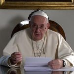 Efforts to protect life include promoting disarmament, pope says