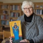 With this year bringing one bind after another,  sister paints icon of Mary, Undoer of Knots
