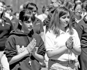 Utica_March___Notre_Dame_students_BW