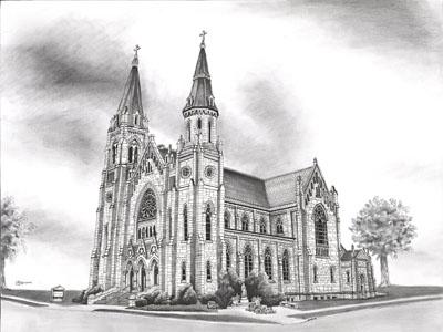 St Marys Church 10in wide