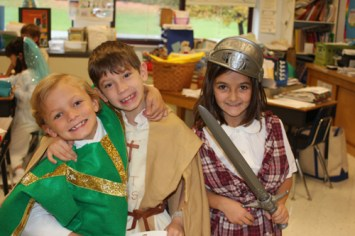 Logan Novak Thomas Cooney and Natalia Cuadrado 1 - Immaculate Conception School celebrates All Saints Day