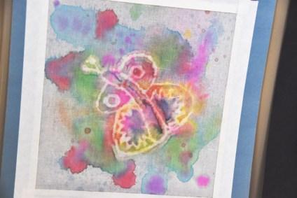 Delia Adams' batik butterfly.