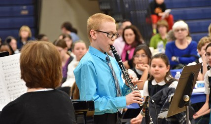"Jacob Stassi-Martin, of Trinity Catholic School, plays ""Jesu, Joy of Man's Desiring."""
