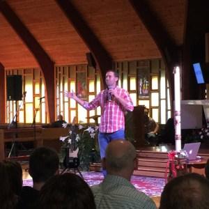 Chris Stefanick speaks at Reboot! Live at Sacred Heart Church in Cicero April 13.