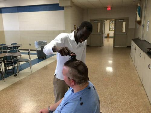 IMG 0041 1 - Grimes principal goes bald for a good cause