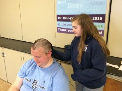 IMG 0063 1 - Grimes principal goes bald for a good cause