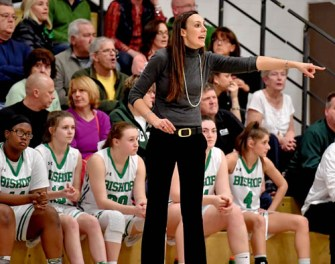 Coach Nicole McManus by Roger Hagan 1 1 - Ludden's Rauch, McManus honored as best in CNY