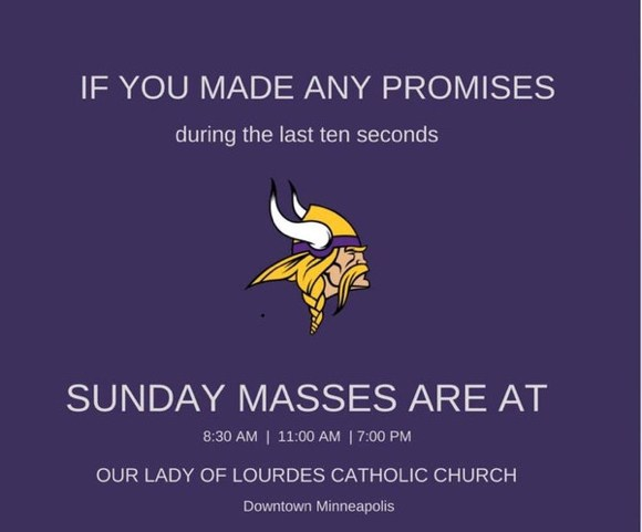 Answered prayers? Minneapolis parish's Vikings Facebook post goes viral