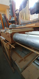 Moller organ pipes and air reservoir copy