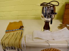 Father Pompei's sacred items