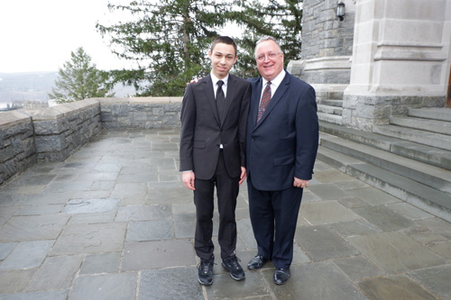 Dominic with West Point organist - 'Dominic-lovers' hear teen organist play at West Point
