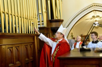 bishop holy water - Glory days begin for basilica's mighty Skinner organ