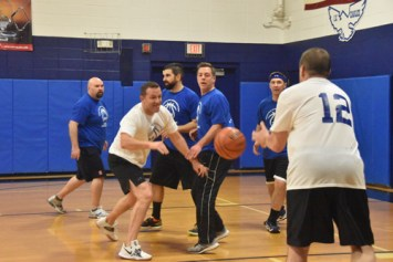 Dads hoop game 3 - Dads Basketball Game at IC School raises money for Road to Emmaus