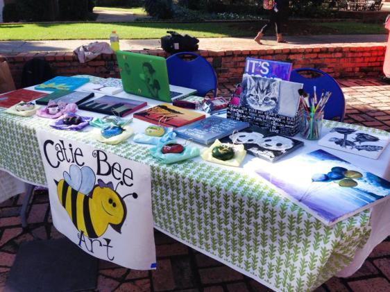 Catie Bee Art at Belmont on-campus market