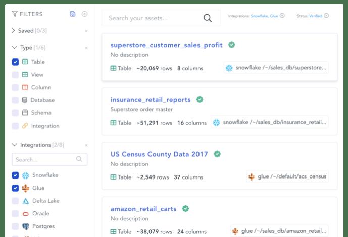 Beispiel für einen Suche - Atlan   Modern Data Catalog & Discovery