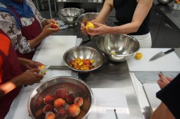 Peeling peaches... millions of peaches, peaches for me.