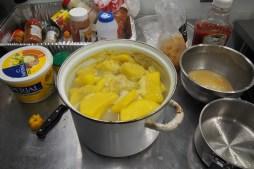 Boiled yams